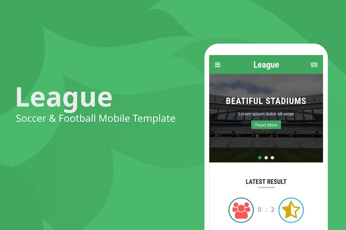 Thumbnail for League - Soccer & Football Mobile Template