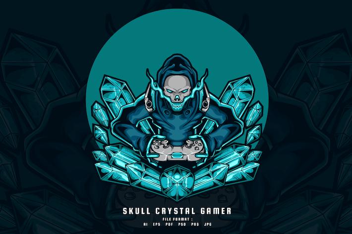 Schädel-Kristall-Gamer