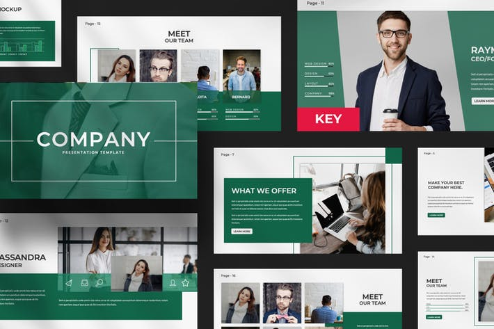 Cover Image For Company Business Keynote Presentation Template