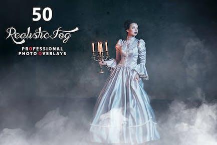 50 Realistic Fog Photo Overlays