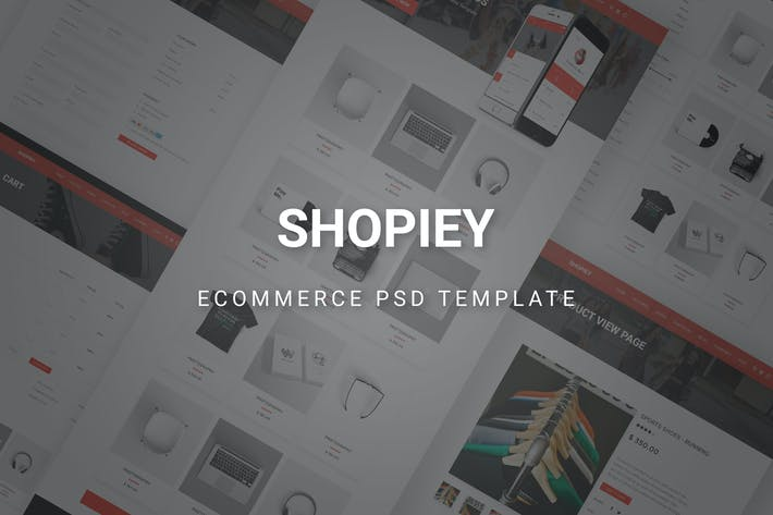 Cover Image For Shopiey - Ecommerce PSD Template