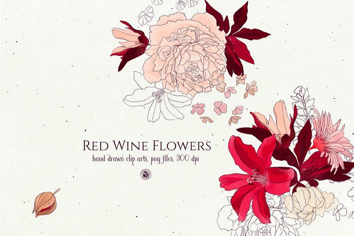 Red Wine Flowers