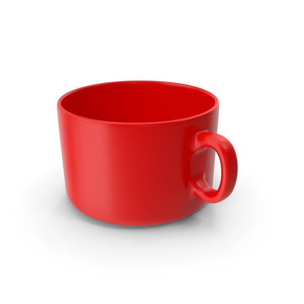 Red Coffee Cup Empty