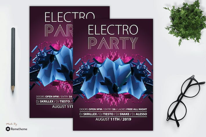 Thumbnail for Abstract Electro Flyer vol.1