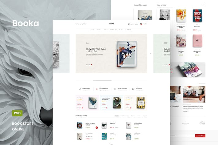 Thumbnail for Booka - Book Store Online PSD Template