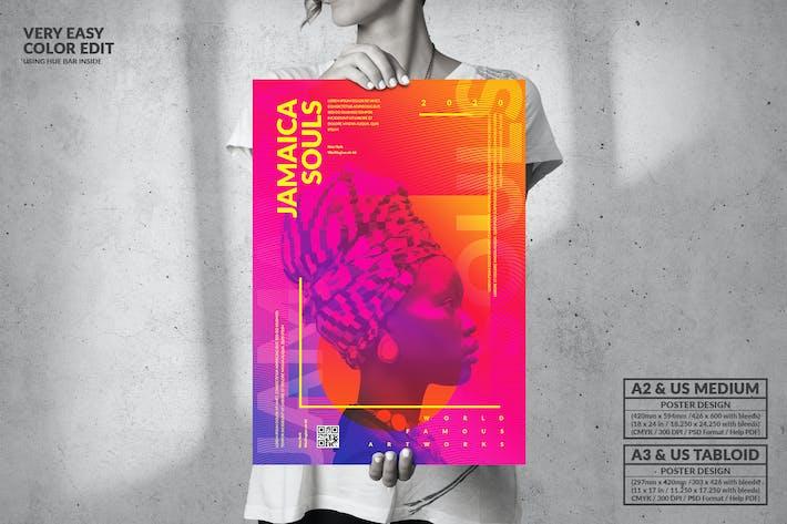 Jamaica Souls Music - Big Poster Design