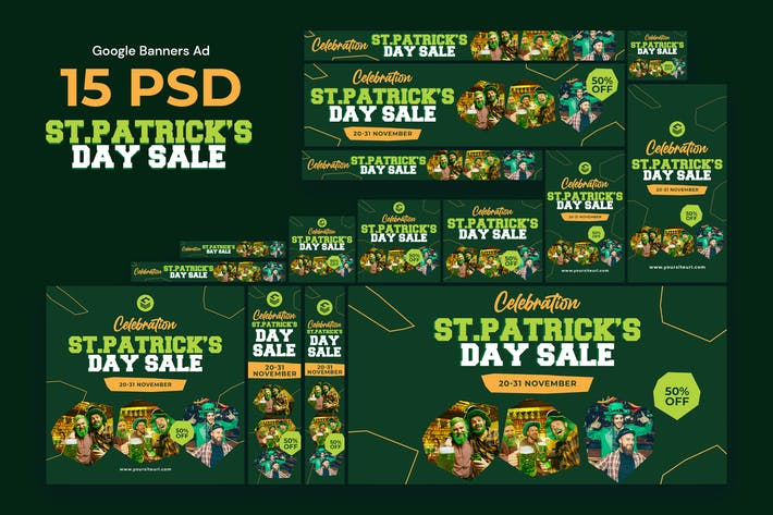 Thumbnail for Saint Patrick's Day Banners Ad