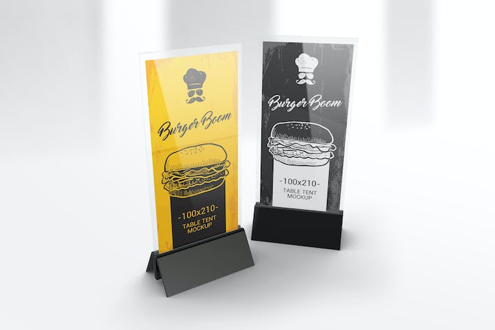 Thumbnail for DL Menu Holder Table Tent Mockups