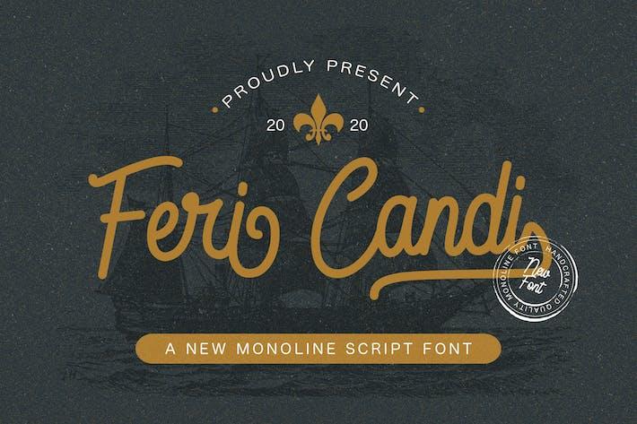 Thumbnail for Feri Candi - Monoline Script Font