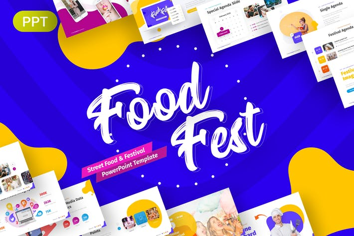 Thumbnail for FoodFest Creative Festival Presentation Template
