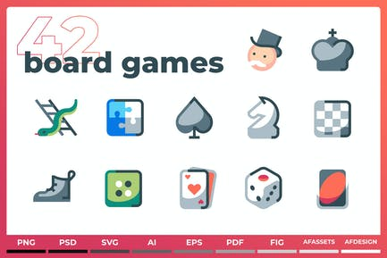 Board & Card Games - Iconez