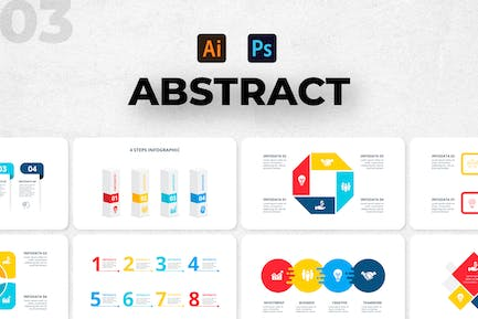 Abstract Infographics Set. Part 03