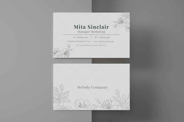 Ornament Business Card