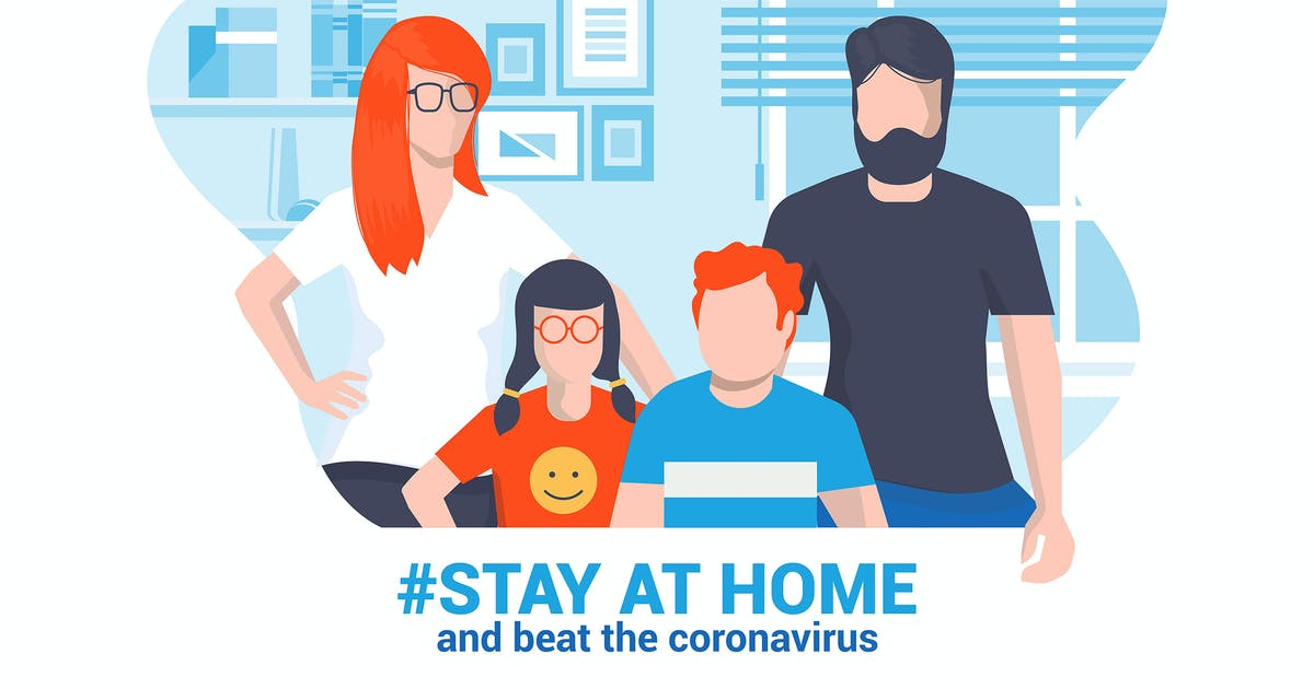Download Stay at home awareness social media campaign by graphics4u