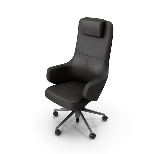 Office Chair Black Stylized
