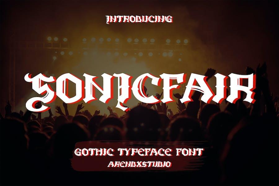 Sonicfair - Gothic Typeface Font