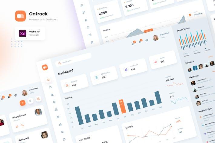 Ontrack - Clean Modern Admin Dashboard Template
