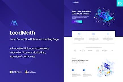 LeadMath - Ведущее поколение Unbounce целевой страницы