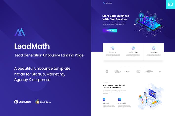 Thumbnail for LeadMath - Lead Generation Unbounce Landing Page
