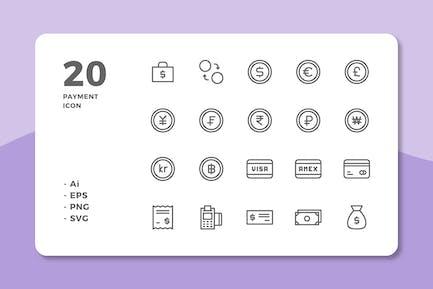 20 ZahlungsIcons (Zeile)