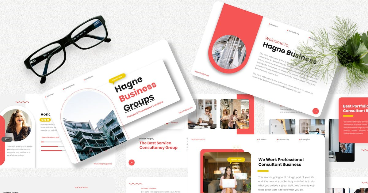 Download Hagne - Pitch Deck Keynote Template by Yumnacreative