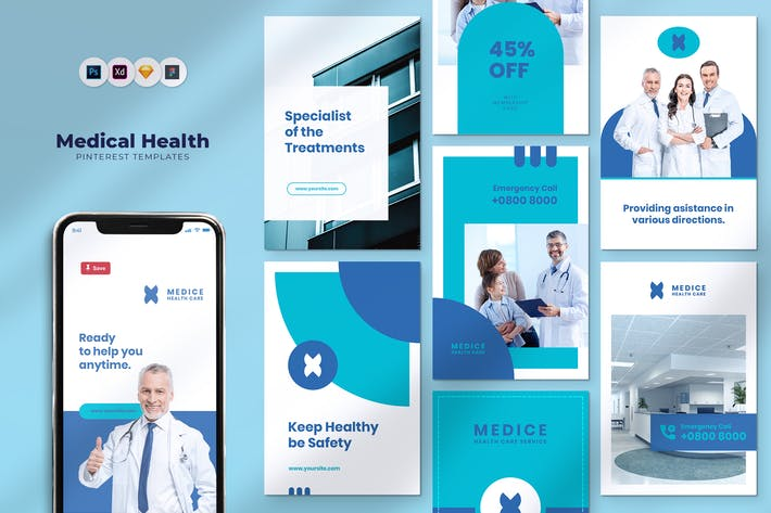 Thumbnail for Healthcare Pinterest Template