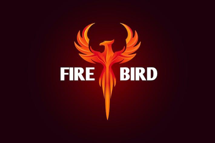 Cover Image For Firebird - Modern Vivid Phoenix Logo
