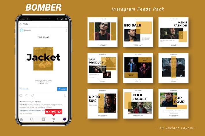 Thumbnail for Bomber - Instagram Feeds Pack