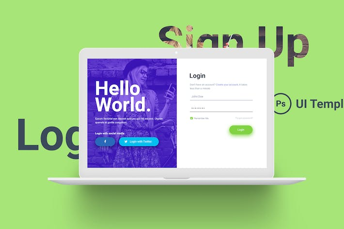 Thumbnail for Hello World Login & Registration Form