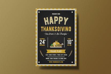 Joyeux Thanksgiving dépliant