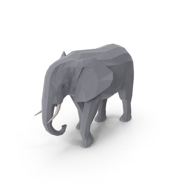 Low Poly Elephant