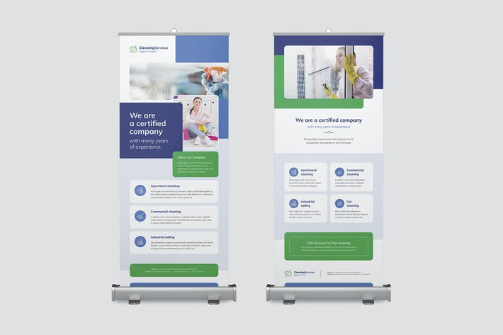 Thumbnail for Roll Up Banner – Cleaning Service
