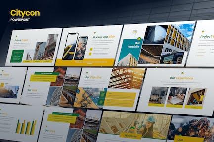 Citycon - Building & Construction Powerpoint