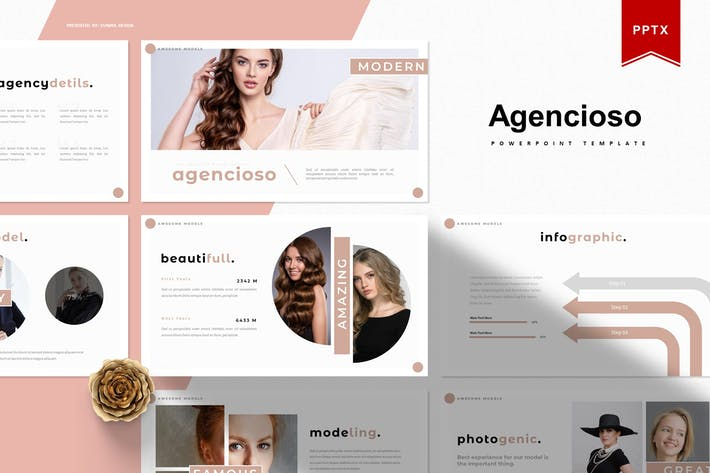 Thumbnail for Agencioso | Шаблон Powerpoint