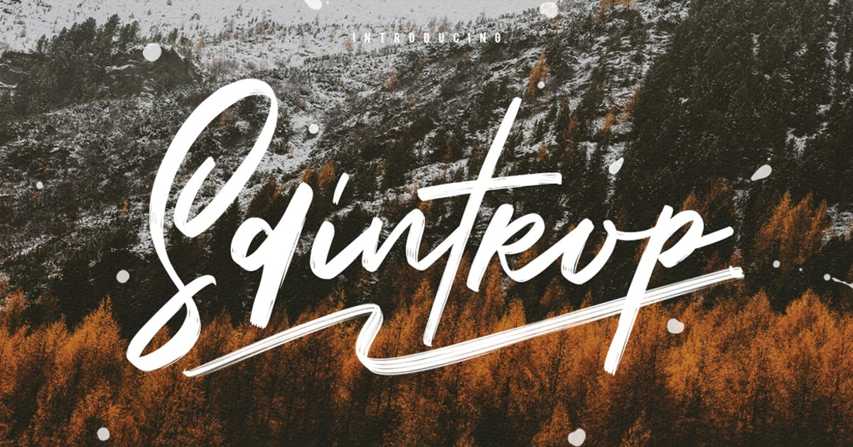Download Saintrop Brush Font Collection by maulanacreative