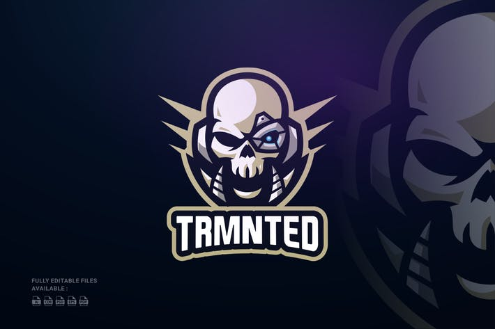 Thumbnail for Logo Skull Robot Sports et E-Sports