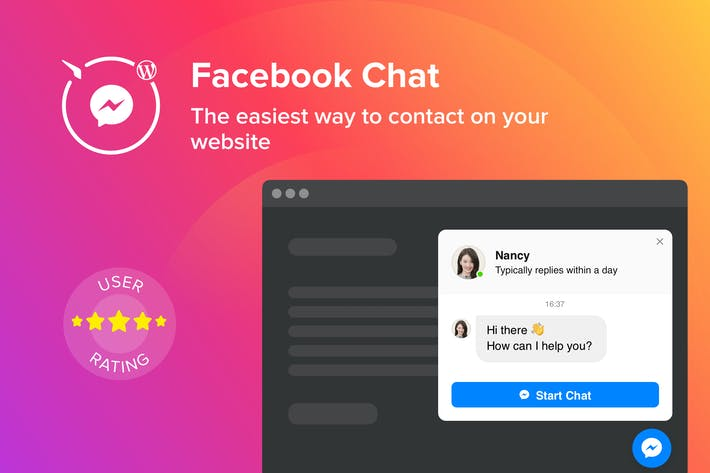 Cover Image For WordPress Facebook Chat Plugin