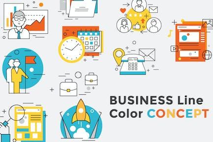 Business Concept Color Line