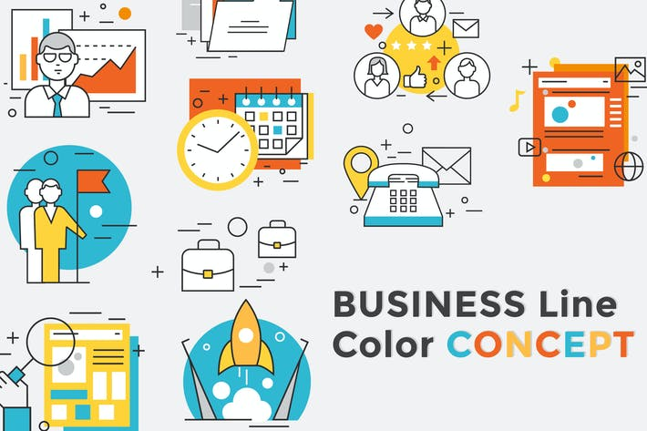 Thumbnail for Business Concept Color Line