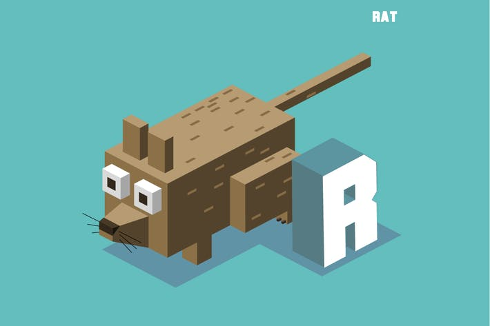 Thumbnail for R for Rat, Animal Alphabet