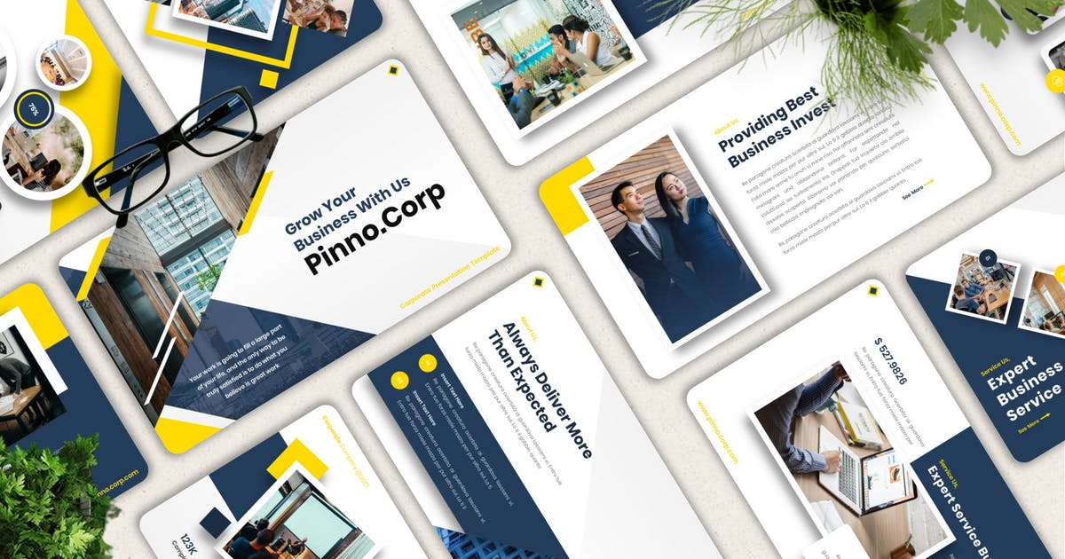 Download Pinno - Corporate Powerpoint Templates by Yumnacreative