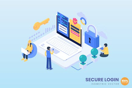 Isometric Secure Login Concept