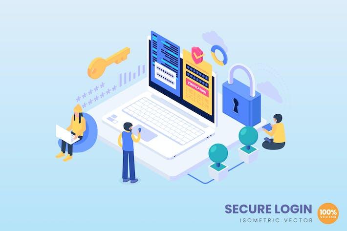 Isometrisches Secure Login-Konzept