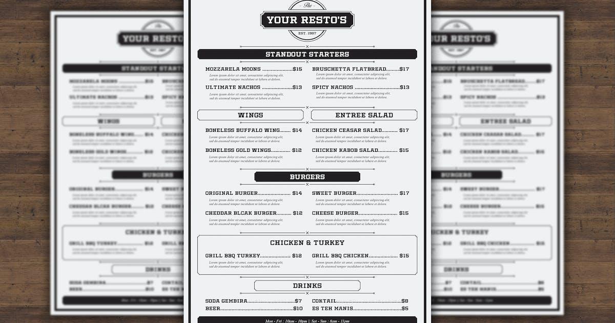 Download Vintage Resto Menu by badastarad