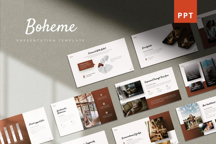 Thumbnail for Boheme - Vintage Powerpoint Template