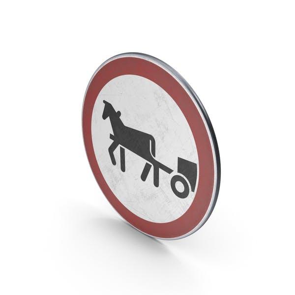 Дорожный знак лошадиные транспортные средства запрещены