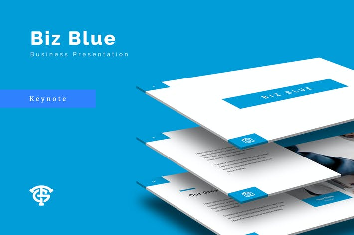 Cover Image For Biz Blue Business - Keynote