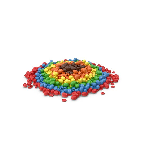 Thumbnail for Large Pile Of Mixed Color Coated Chocolate Candy