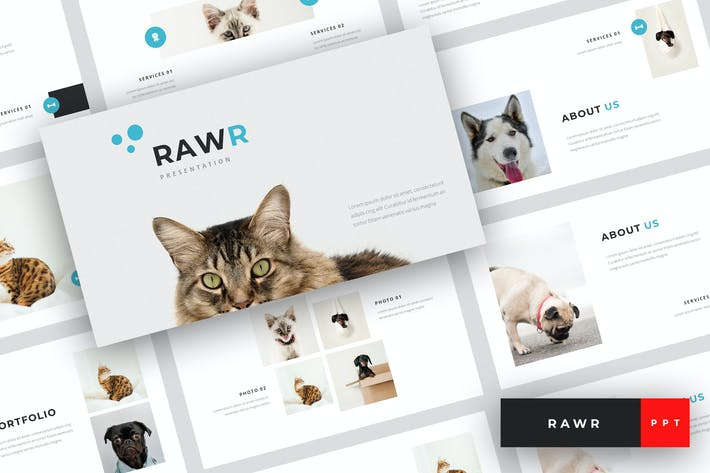 Thumbnail for Rawr - Pet Service PowerPoint Template