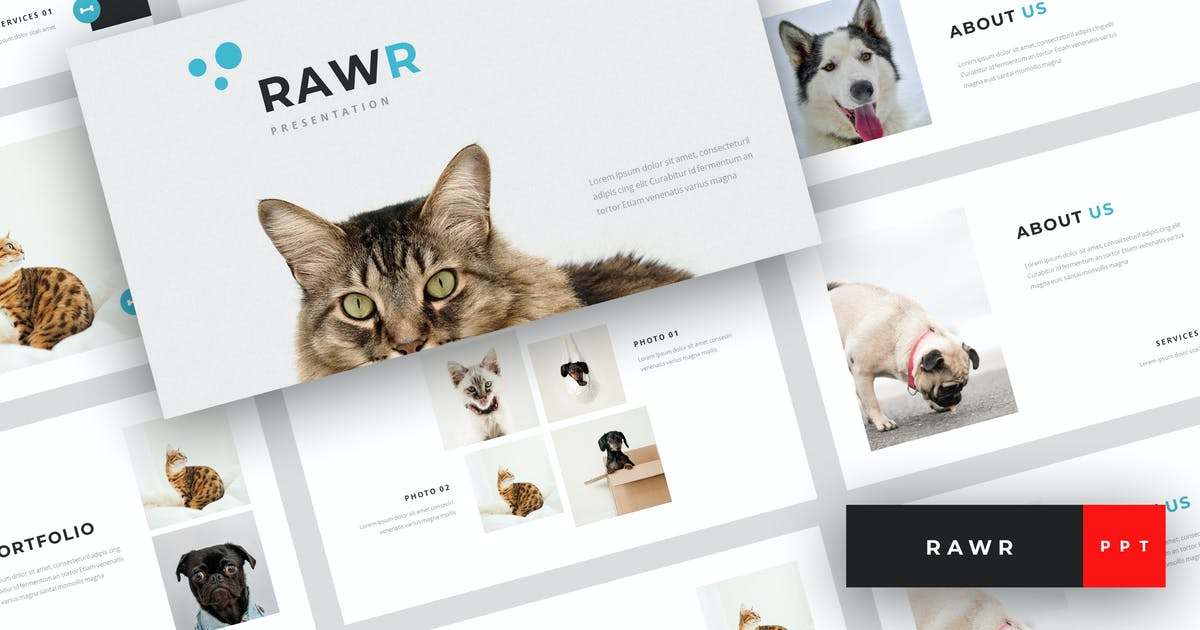 Rawr Pet Service Powerpoint Template By Stringlabs On Envato Elements